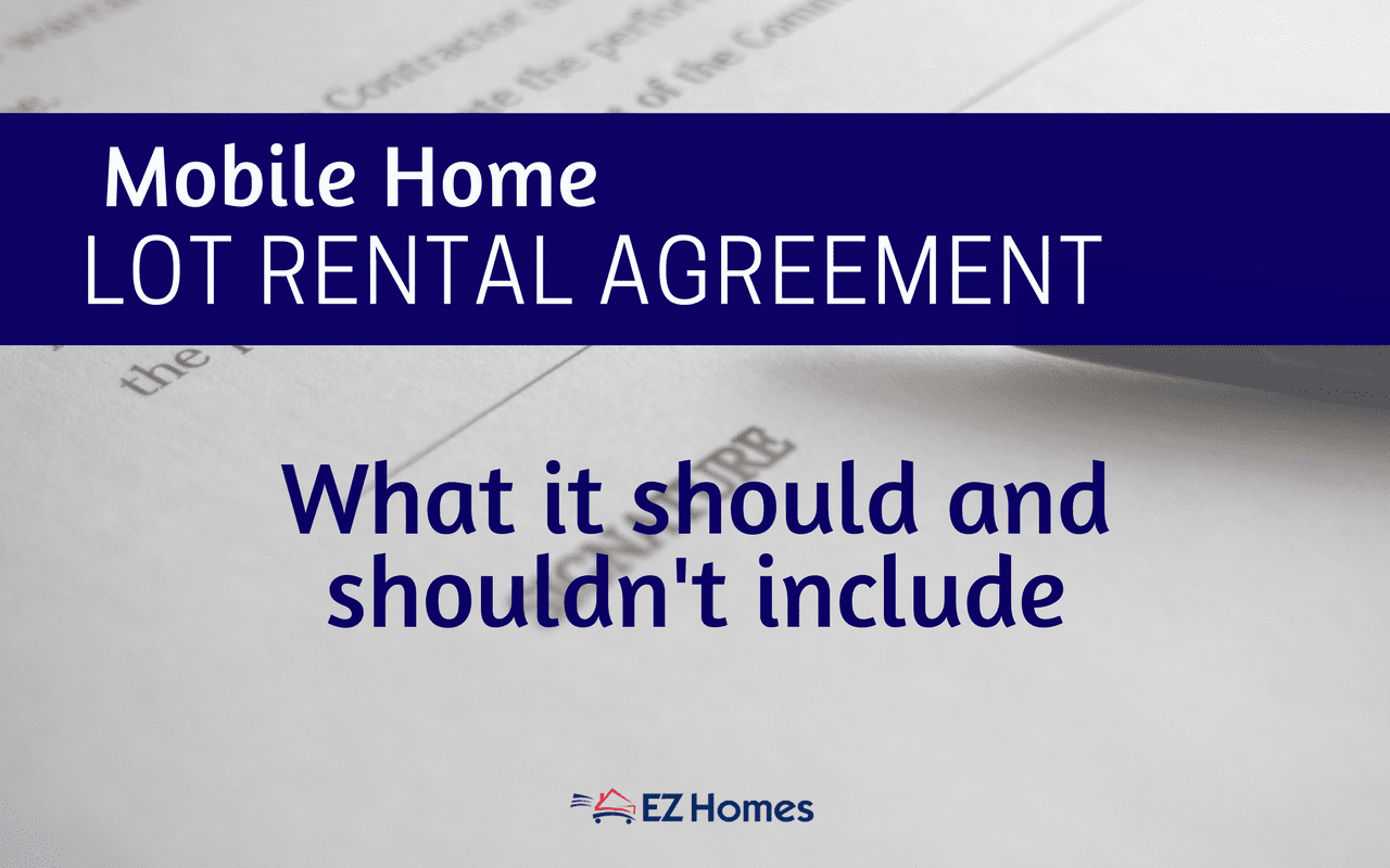 Mobile Home Lot Rental Agreement What It Should And