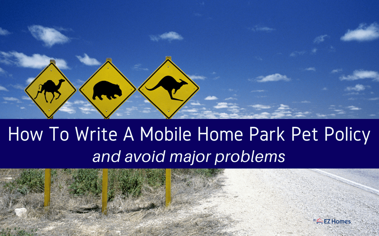 """Featured image for """"How To Write A Mobile Home Park Pet Policy & Avoid Major Problems"""" blog post"""