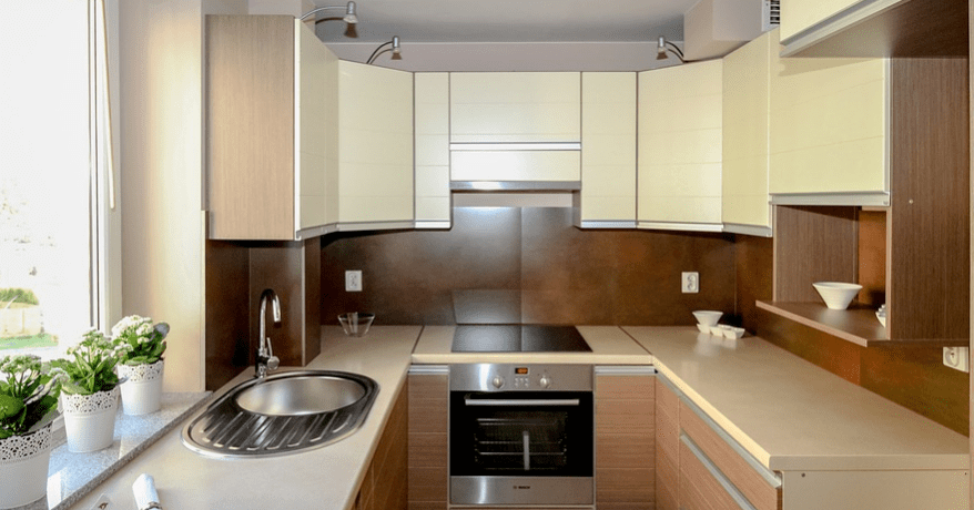Small spaced kitchen with electric burners