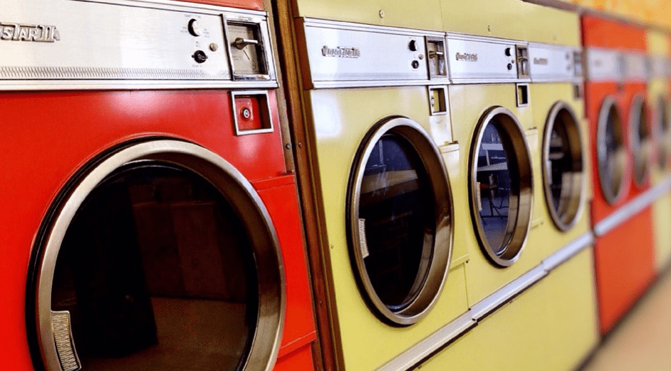 dryers at a laundromat