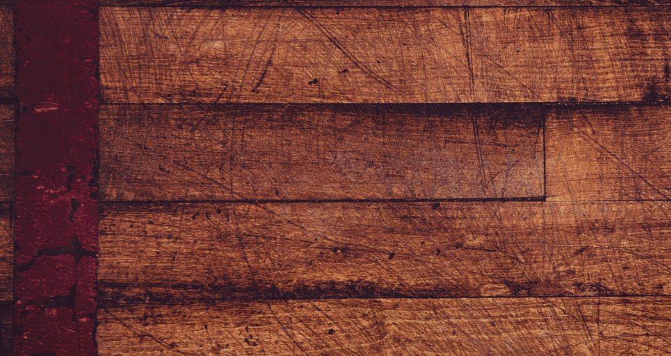 Scratched wooden floors