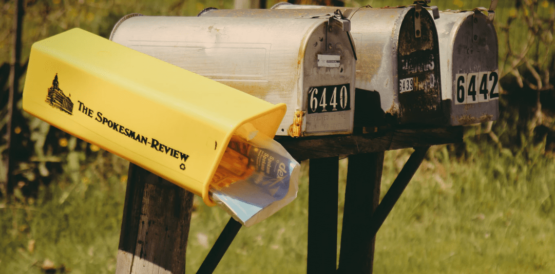 Mailboxes by the road