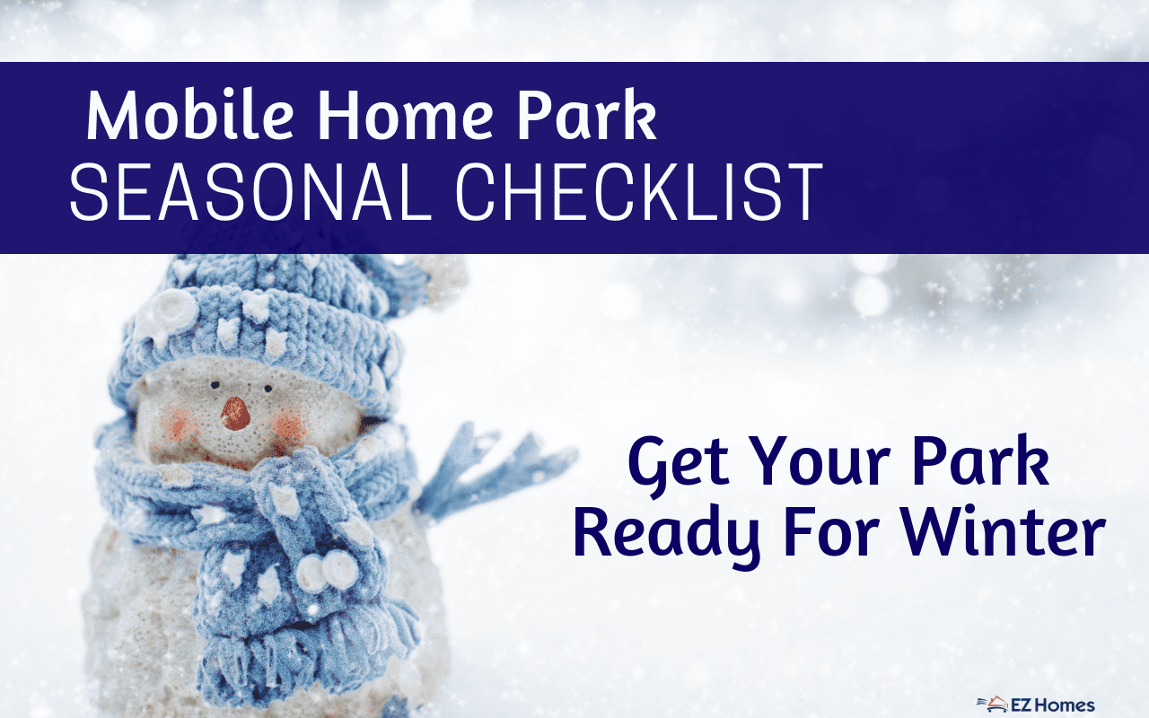 """Featured image for """"Mobile Home Park Seasonal Checklist - Get Your Park Ready For Winter"""" blog post"""
