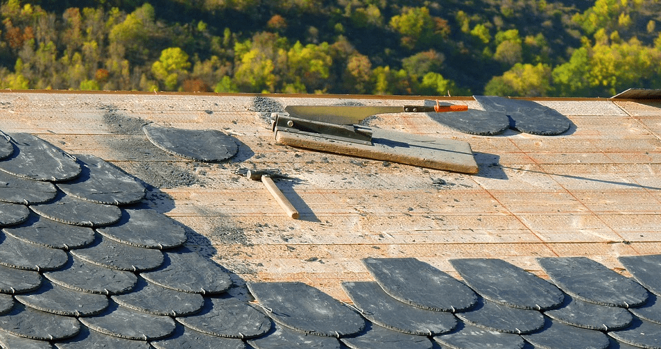 Roofing work construction