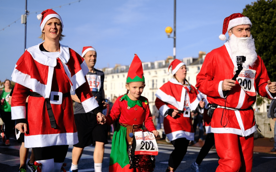 Santarun fundraiser outdoors