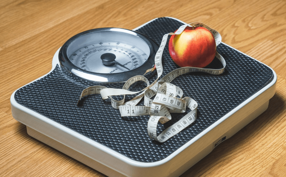Weight scale and tape, weight loss resolution