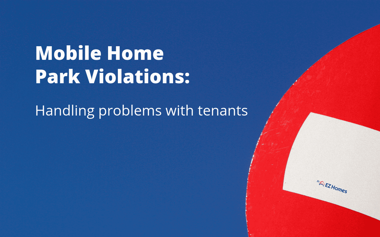 "Featured image for ""Mobile Home Park Violations_ Handling Problems With Tenants"" blog post"