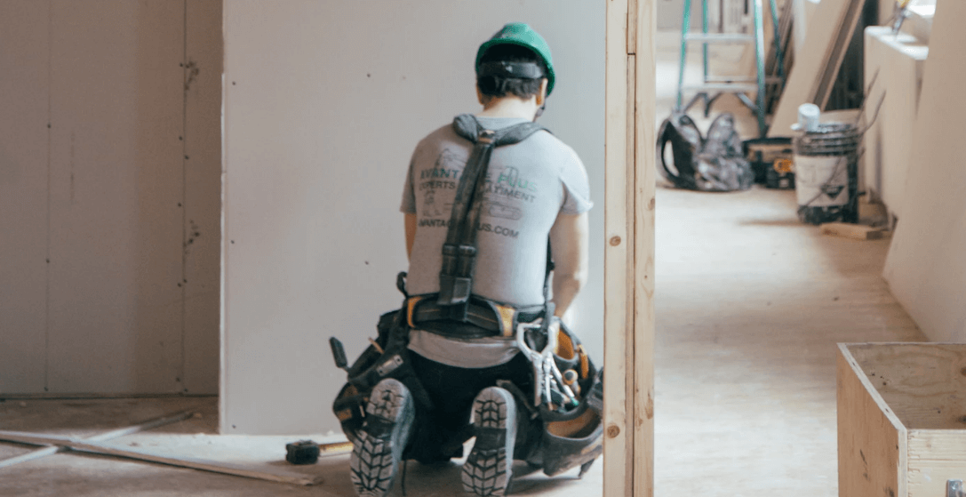 A man working on interior renovations