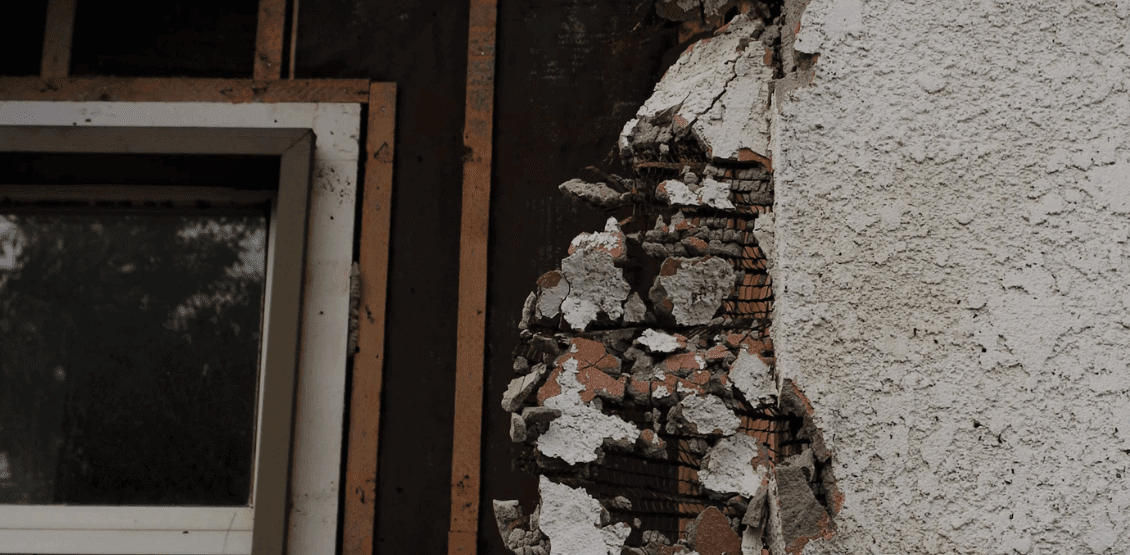Old house exterior wall