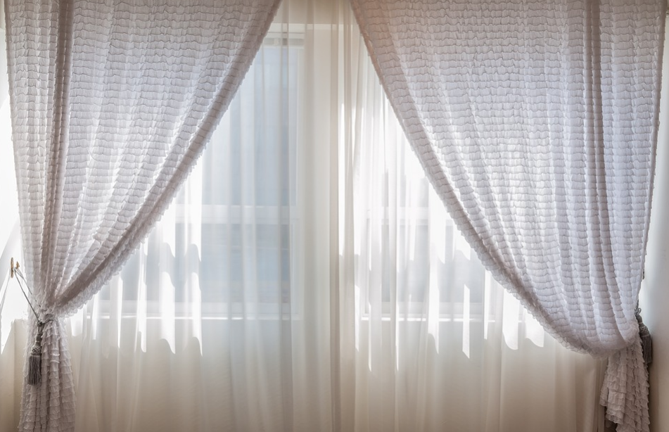 Cozy and delicate window curtains