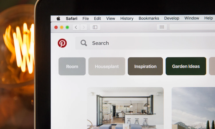 Pinterest search in browser