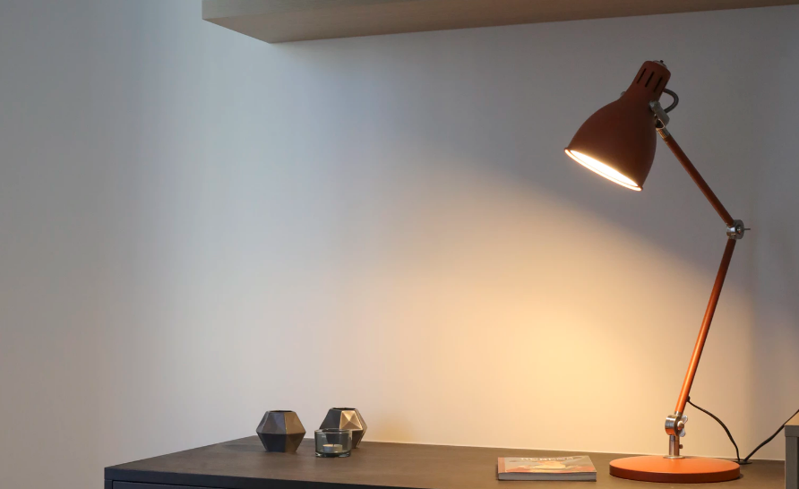 A task lamp on a desk