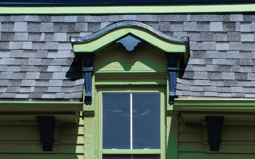 Window with gutters