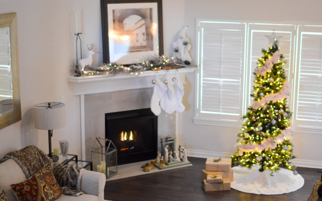 How To Decorate Large, Empty Spaces For The Holidays