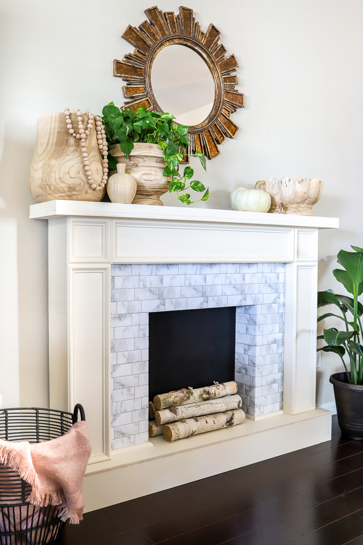 Faux fireplace with Smart Tiles