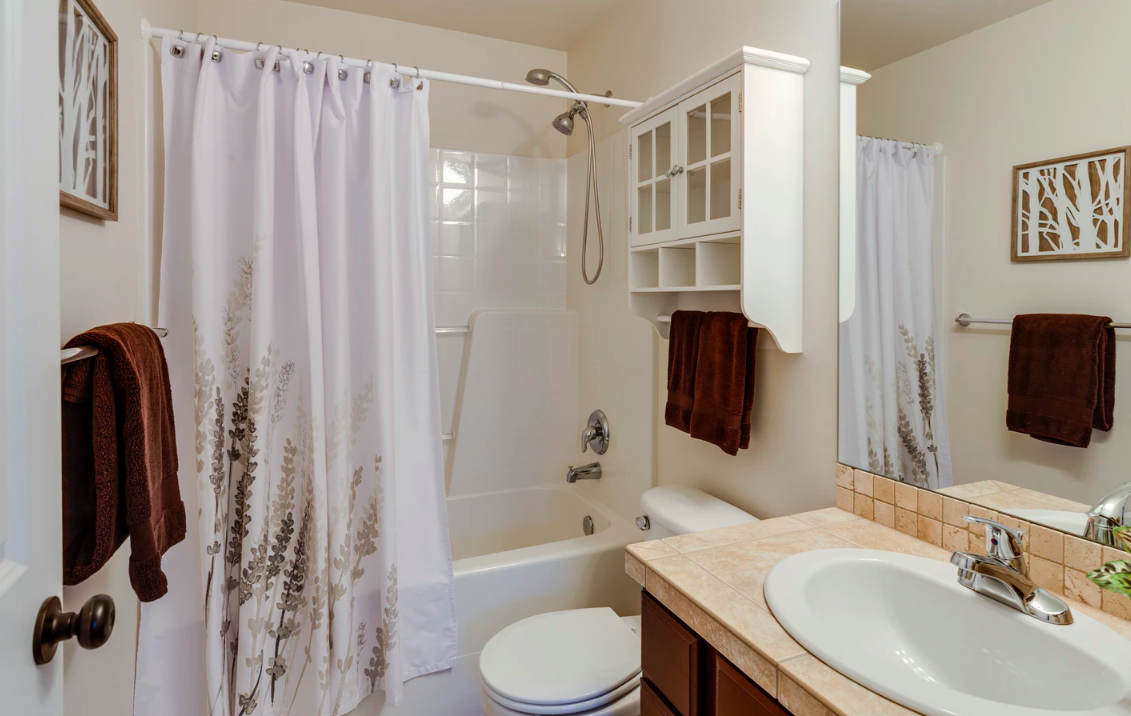 """Featured image for """"How To Create Built-In Storage In Your Mobile Home Bathroom"""""""
