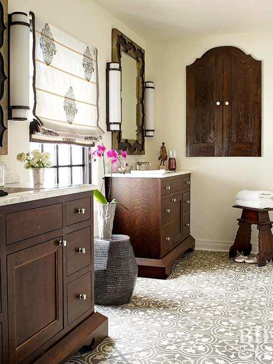 Brown theme neutral bathroom