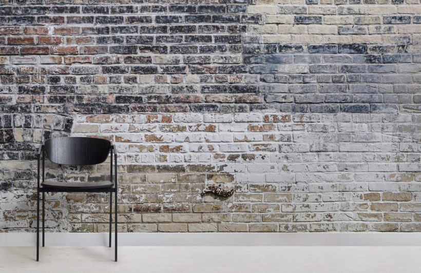 Industrial brick wallpaper mural