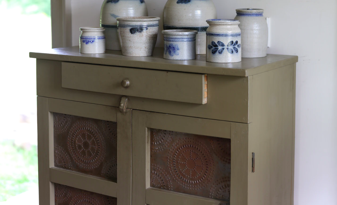 Furniture with pottery