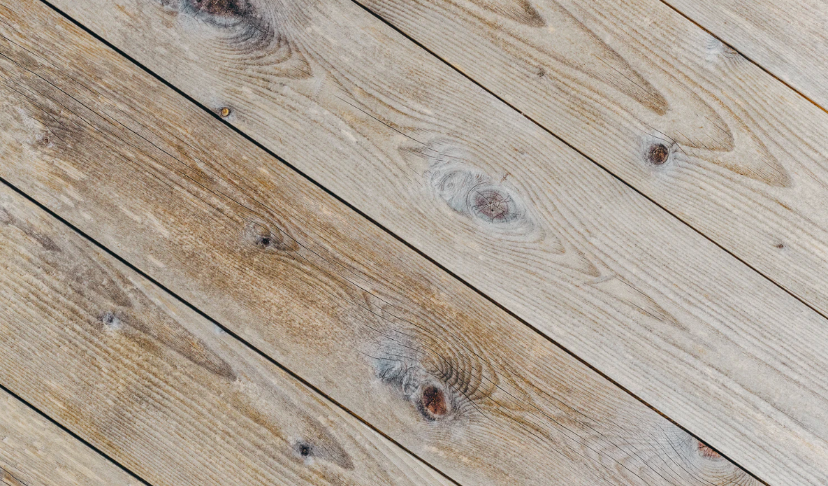 Brown sun-bleached wooden planks