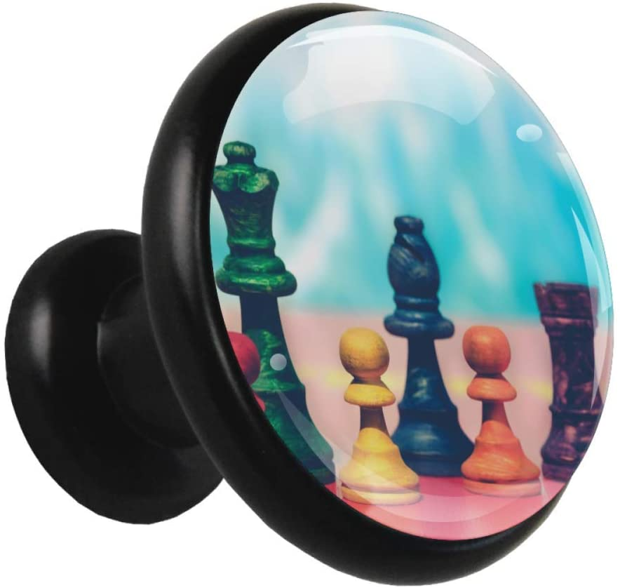 Colorful chess cabinet drawer knob