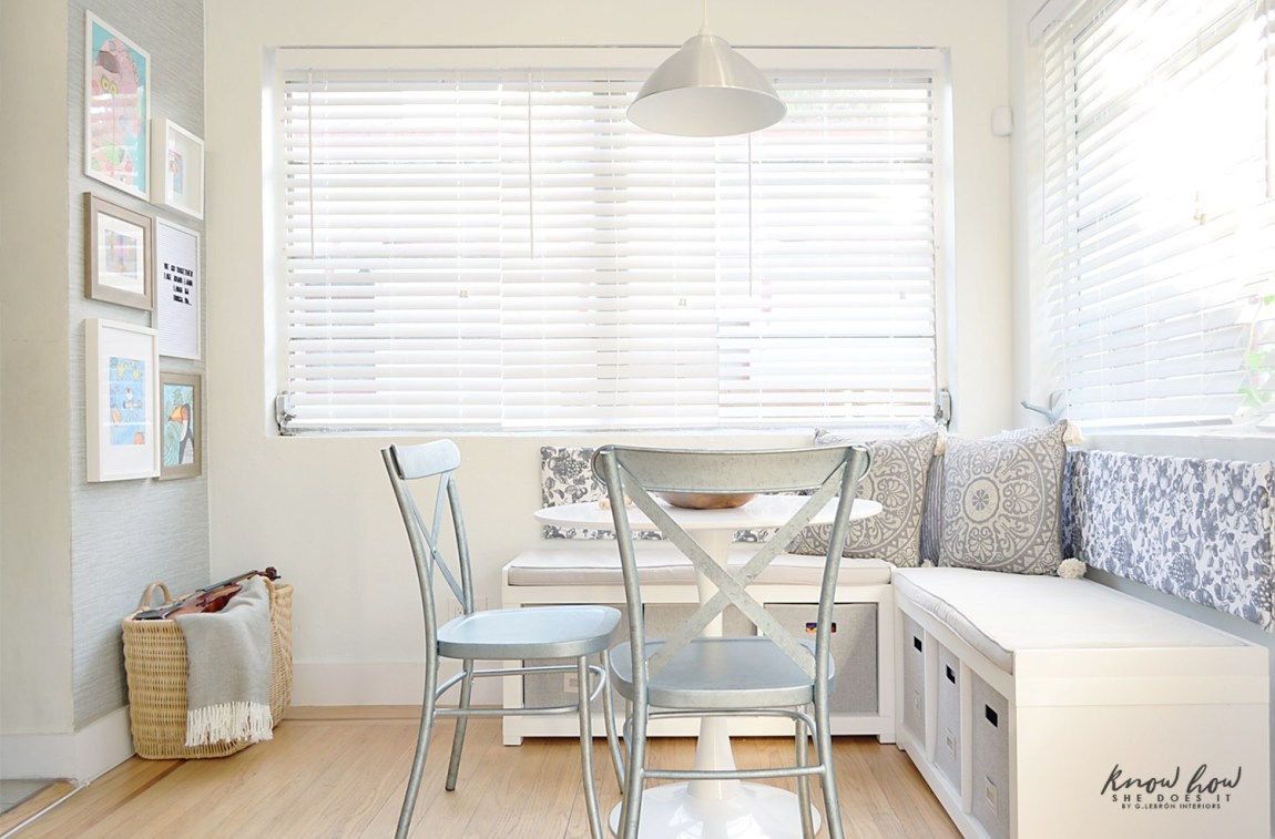 Breakfast nook and complementary chairs