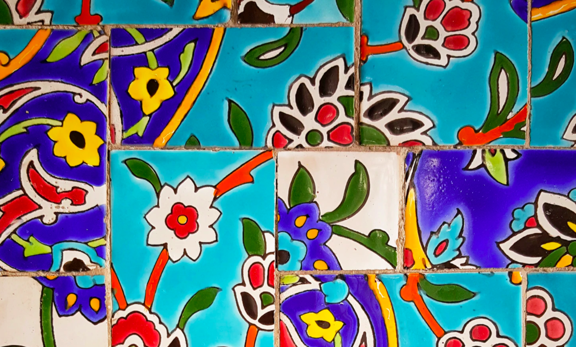 Colorful Persian tiles