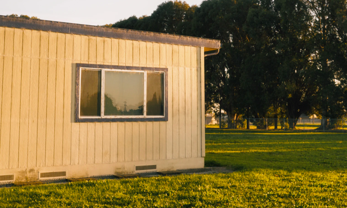 Exterior of a mobile home