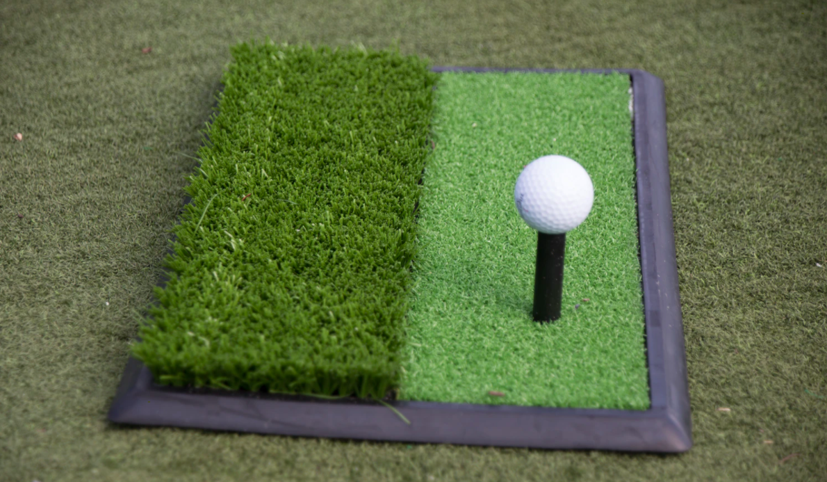White golf ball on tee stand