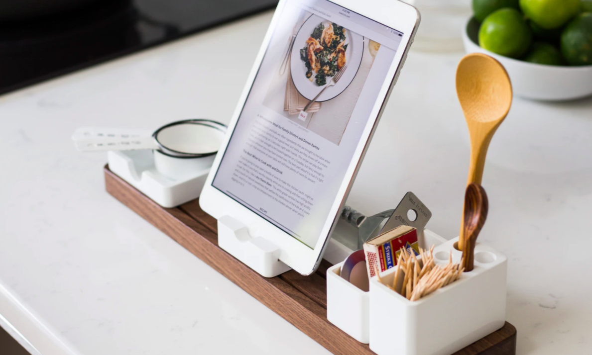 iPad stand and organizer