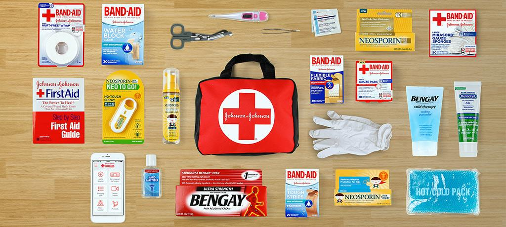 Essentials in a first aid kit