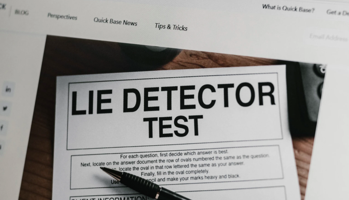 Lie detector test on paper