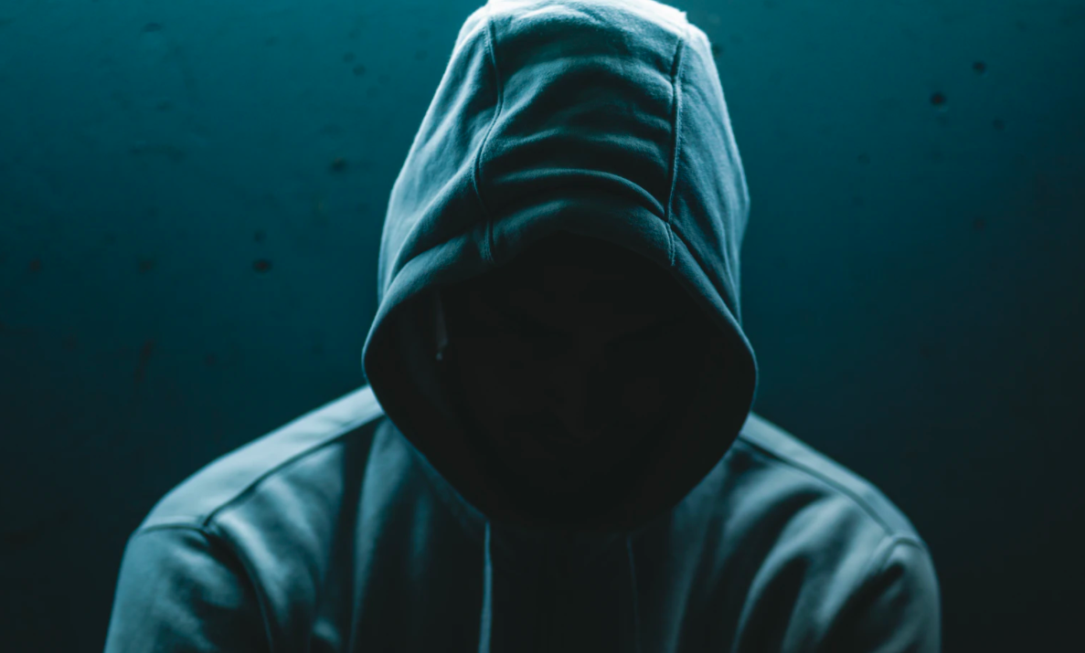 Person wearing a hoodie