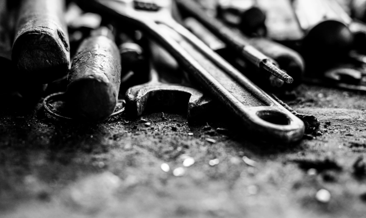 Various tools in gray