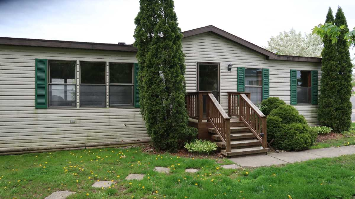 Manufactured home. Double wide